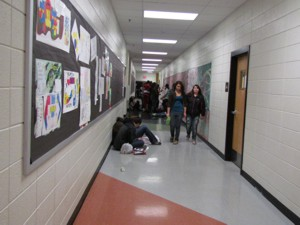 The Fine Arts Hallway