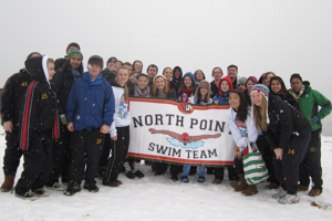 Swim Team Takes a Polar Plunge