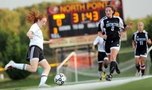 Eagles Girls Soccer Team vs. Huntingtown: Missed Opportunities
