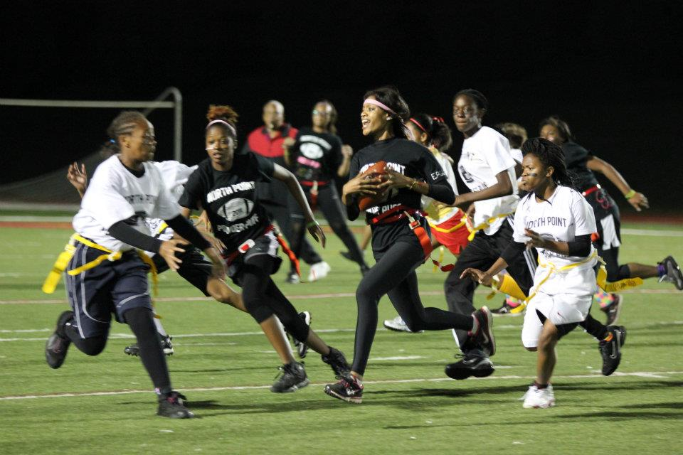 Classes Battle at Powder Puff Game