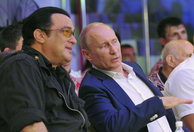 FILE+-+This+is+a+Saturday%2C+Aug.+11%2C+2012%2C+file+photo++Russian+President+Vladimir+Putin%2C+and+U.S.+actor+Steven+Seagal%2C+left%2C+as+they+watch+the+first+Russian+national+championship+of+mixed+martial+arts+in+the+Black+Sea+resort+of+Sochi%2C+southern+Russia.+The+Russian+news+RIA+Novosti+says+American+actor+Steven+Seagal+has+performed+at+a+concert+in+the+breakaway+region+of+Crimea+on+a+stage+decorated+with+the+flag+of+pro-Russian+separatists+fighting+in+eastern+Ukraine.+Seagal%2C+who+knows+Russian+President+Vladimir+Putin%2C+performed+Saturday+Aug.+9%2C+2014+in+the+Black+Sea+port+city+of+Sevastopol+at+a+concert+organized+by+a+motorcycle+gang+of+Russian+nationalists+known+as+the+Night+Wolves.+Russia+annexed+the+Ukrainian+region+in+March.%28AP+Photo%2FRIA-Novosti%2C++Alexei+Nikolsky%2C+Presidential+Press+Service%2C+File%29