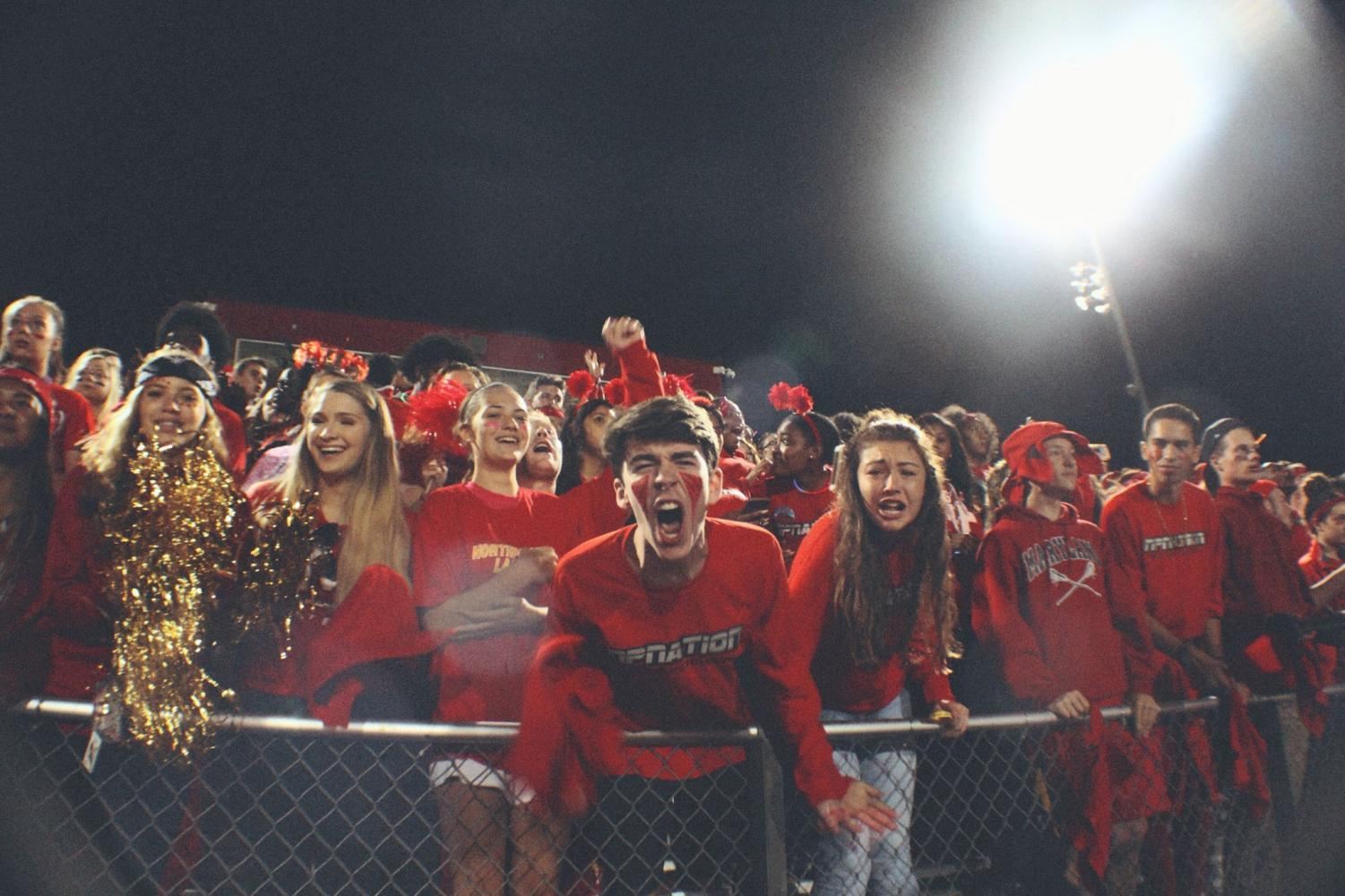 Student Section during the homecoming game