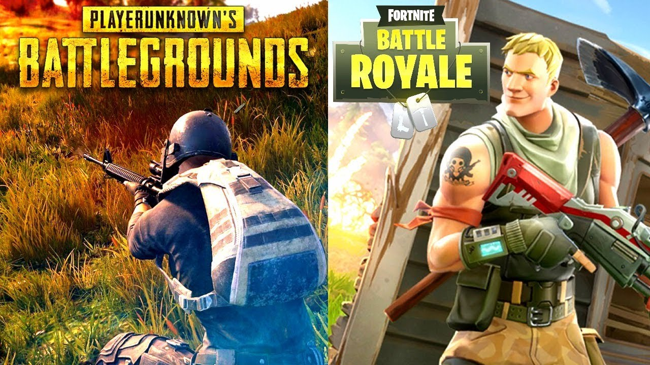 Side by side in game art of the two popular battle royale games.