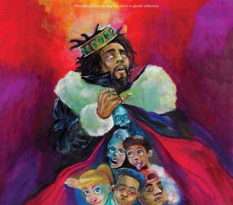 Front cover of KOD album. The quote near the top says,