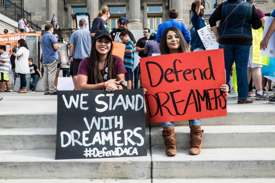 DACA protesters standing up for dreamers