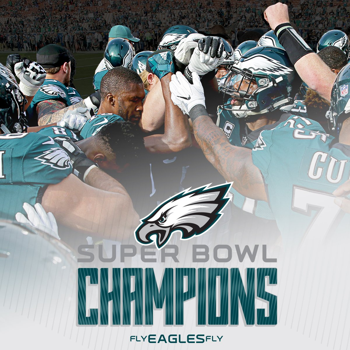 Philadelphia Eagles win their first Super Bowl in 2018.