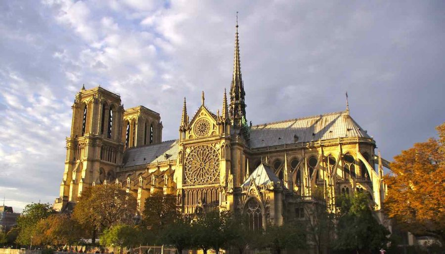 Notre+Dame+Cathedral+Severely+Damaged+by+Fire